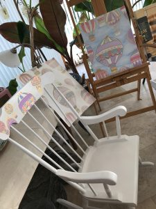 Rocking Chair and Canvas