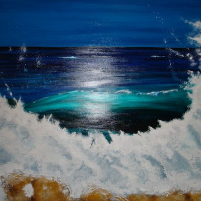 """Acrylic Painting & Textured Acrylic Medium 59"""" x 39"""" 150cm x 100cm £900 o.i.r.o"""